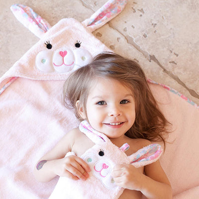ZOOCCHINI Baby Snow Terry Hooded Bath Towel - Beatrice the Bunny-1