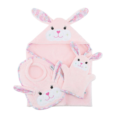ZOOCCHINI Baby Snow Terry Hooded Bath Towel - Beatrice the Bunny-5