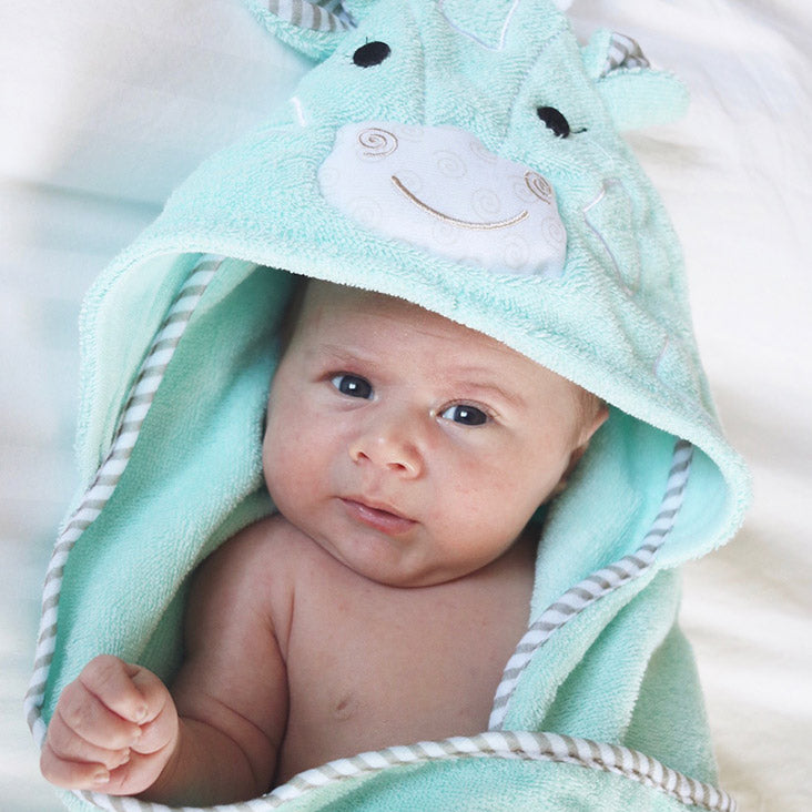 ZOOCCHINI Baby Snow Terry Hooded Bath Towel - Jaime the Giraffe