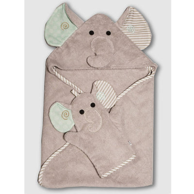 ZOOCCHINI Baby Snow Terry Bath Mitt - Elle the Elephant-2