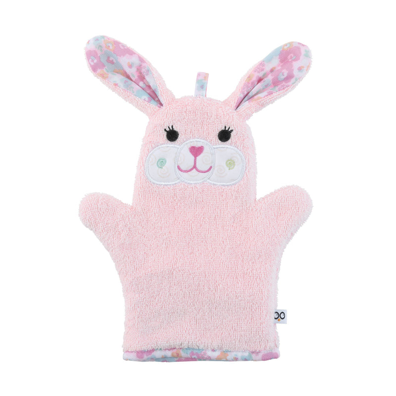 ZOOCCHINI Baby Snow Terry Bath Mitt - Beatrice the Bunny-1
