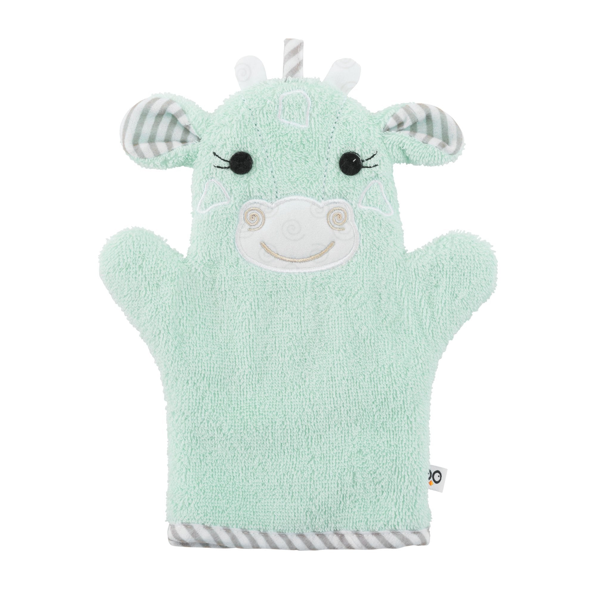 ZOOCCHINI Baby Snow Terry Bath Mitt - Jaime the Giraffe-1