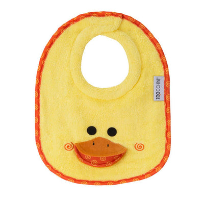 ZOOCCHINI Baby Snow Terry Feeding Bib - Puddles the Duck-2