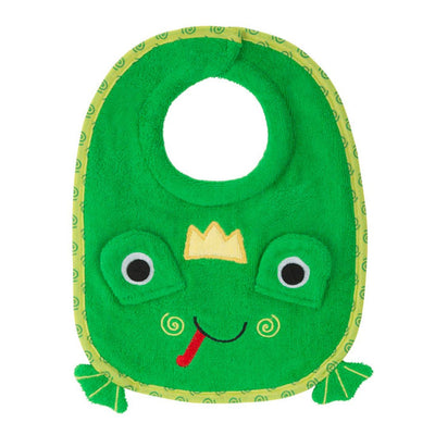ZOOCCHINI Baby Snow Terry Feeding Bib - Flippy the Frog-2
