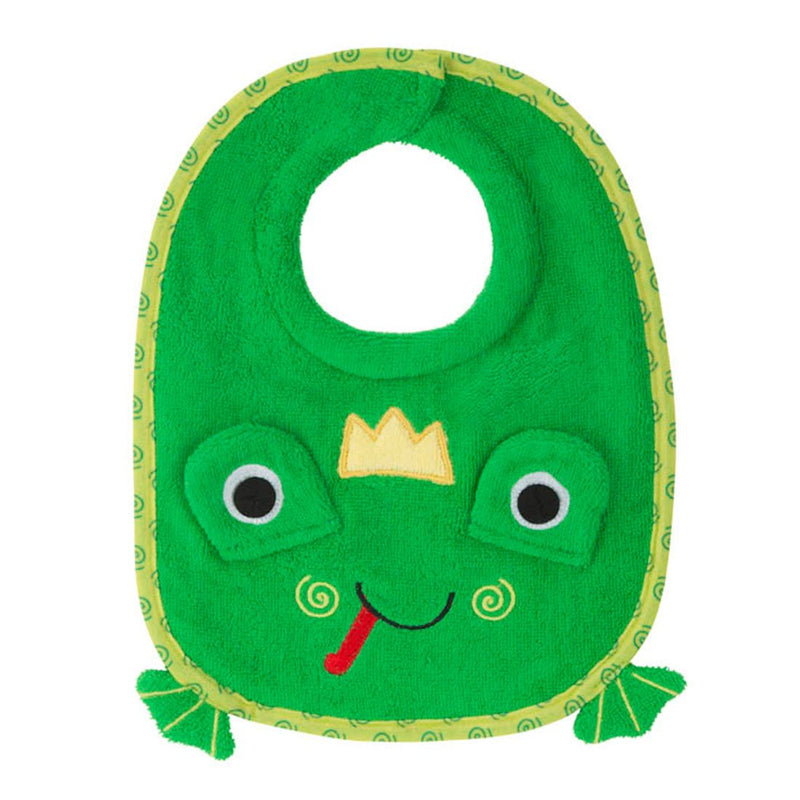 ZOOCCHINI Baby Snow Terry Feeding Bib - Flippy the Frog-1