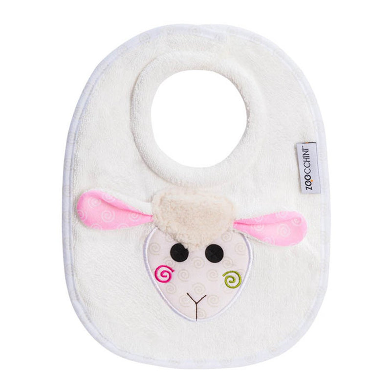 ZOOCCHINI Baby Snow Terry Feeding Bib - Lola the Lamb