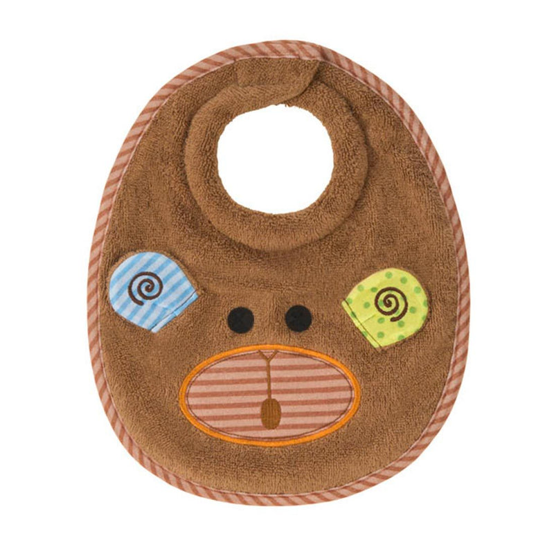 ZOOCCHINI Baby Snow Terry Feeding Bib - Max the Monkey-1