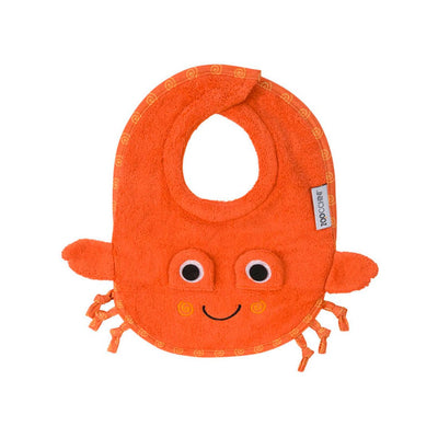 ZOOCCHINI Baby Snow Terry Feeding Bib - Charlie the Crab-2