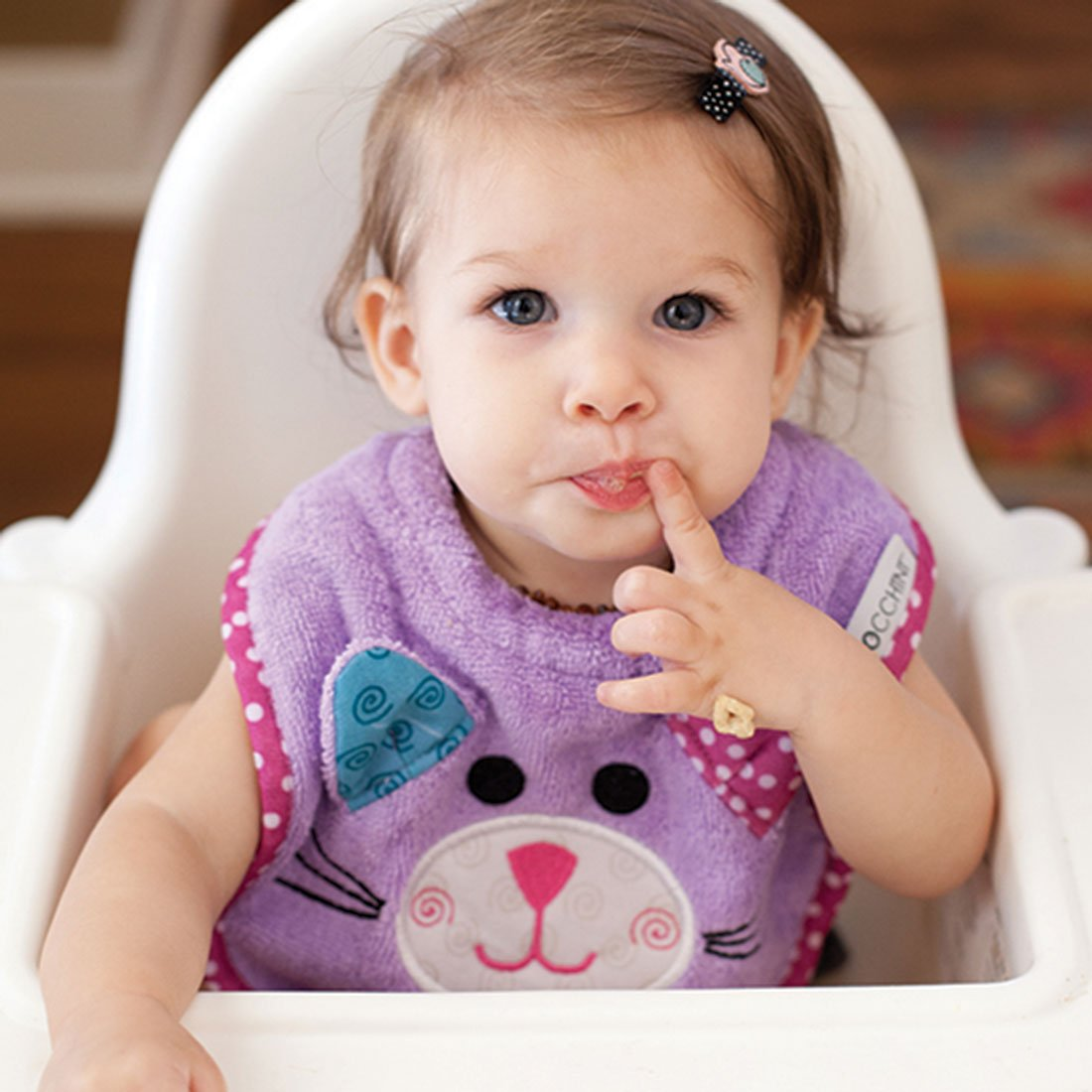 ZOOCCHINI Baby Snow Terry Feeding Bib - Kallie the Kitten