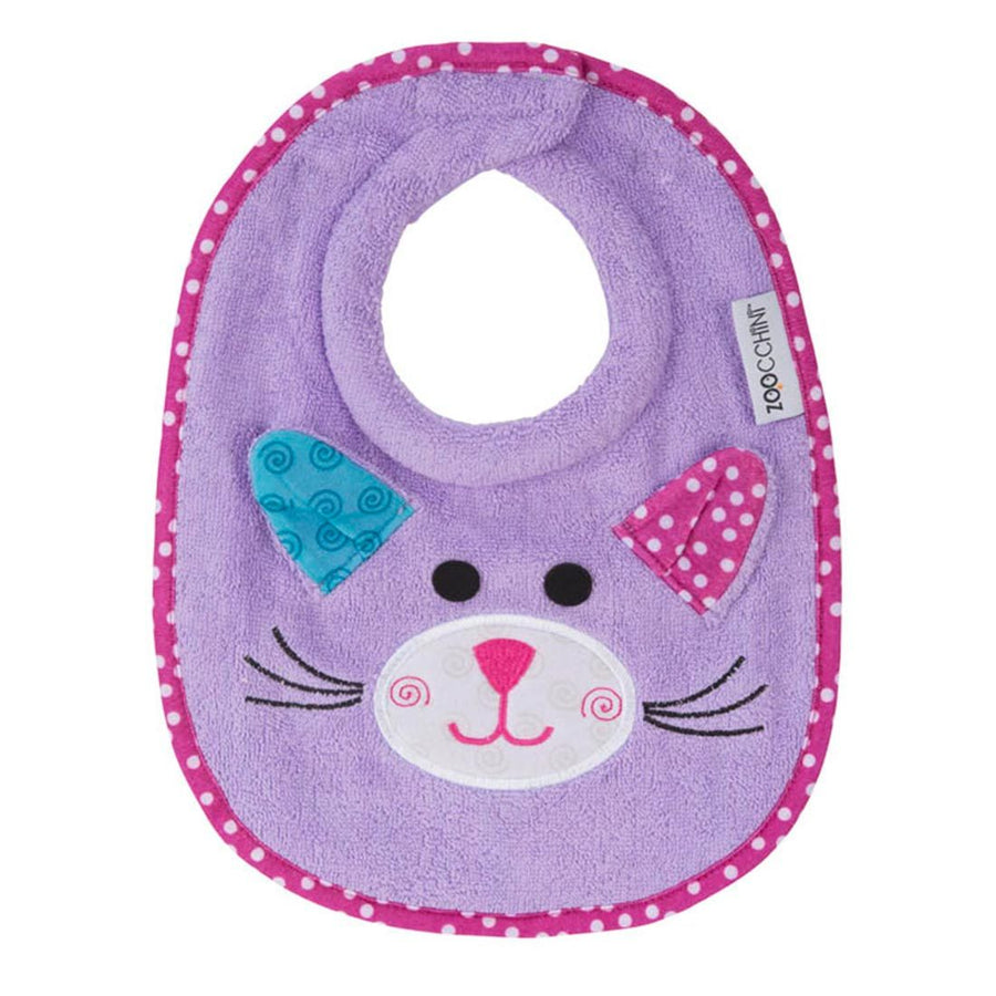 ZOOCCHINI Baby Snow Terry Feeding Bib - Kallie the Kitten-1