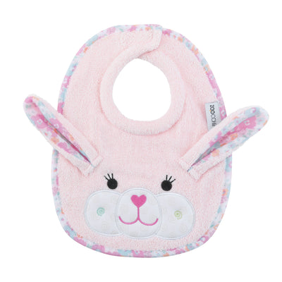 ZOOCCHINI Baby Snow Terry Feeding Bib - Beatrice the Bunny-1
