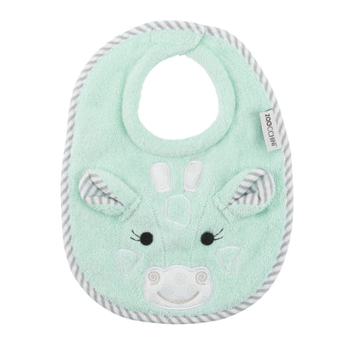 ZOOCCHINI Baby Snow Terry Feeding Bib - Jaime the Giraffe-1