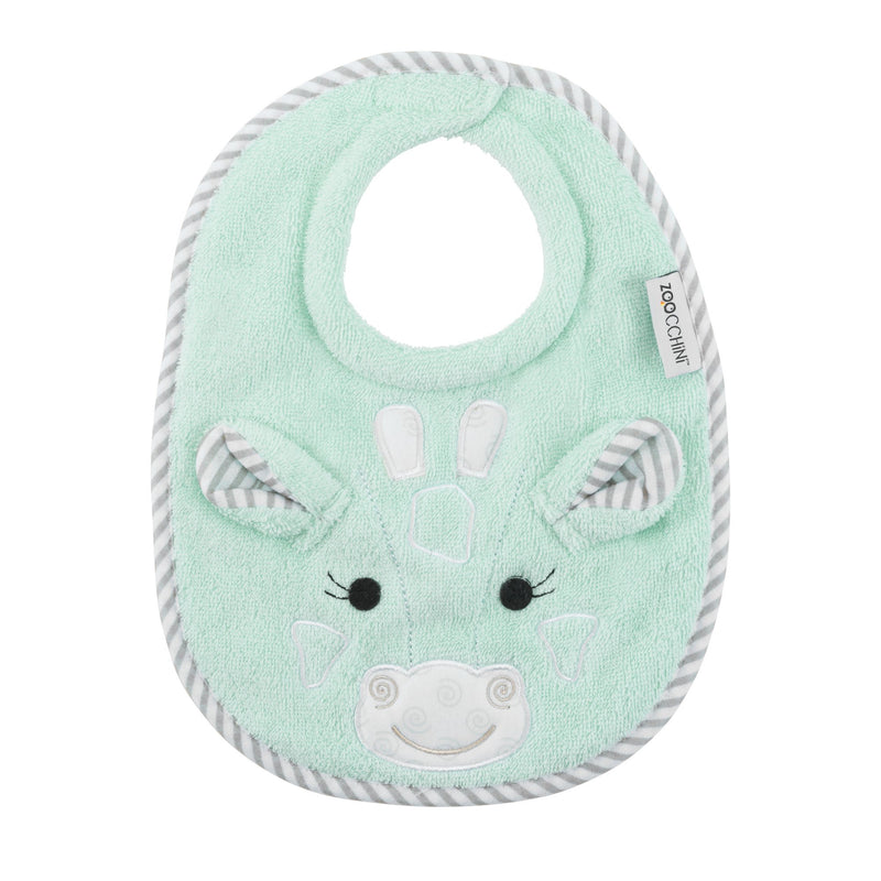 ZOOCCHINI Baby Snow Terry Feeding Bib - Jaime the Giraffe
