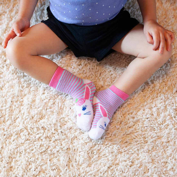 Zoocchini 3 Piece Comfort Terry Socks Set Beatrice The Bunny