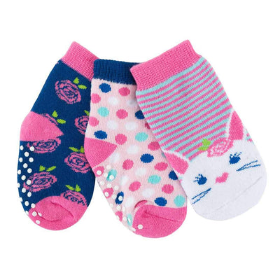 ZOOCCHINI 3 Piece Comfort Terry Socks Set - Beatrice the Bunny