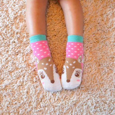 ZOOCCHINI 3 Piece Comfort Terry Socks Set - Fiona the Fawn