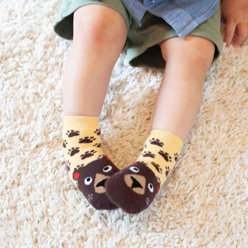 ZOOCCHINI 3 Piece Comfort Terry Socks Set - Bosley the Bear
