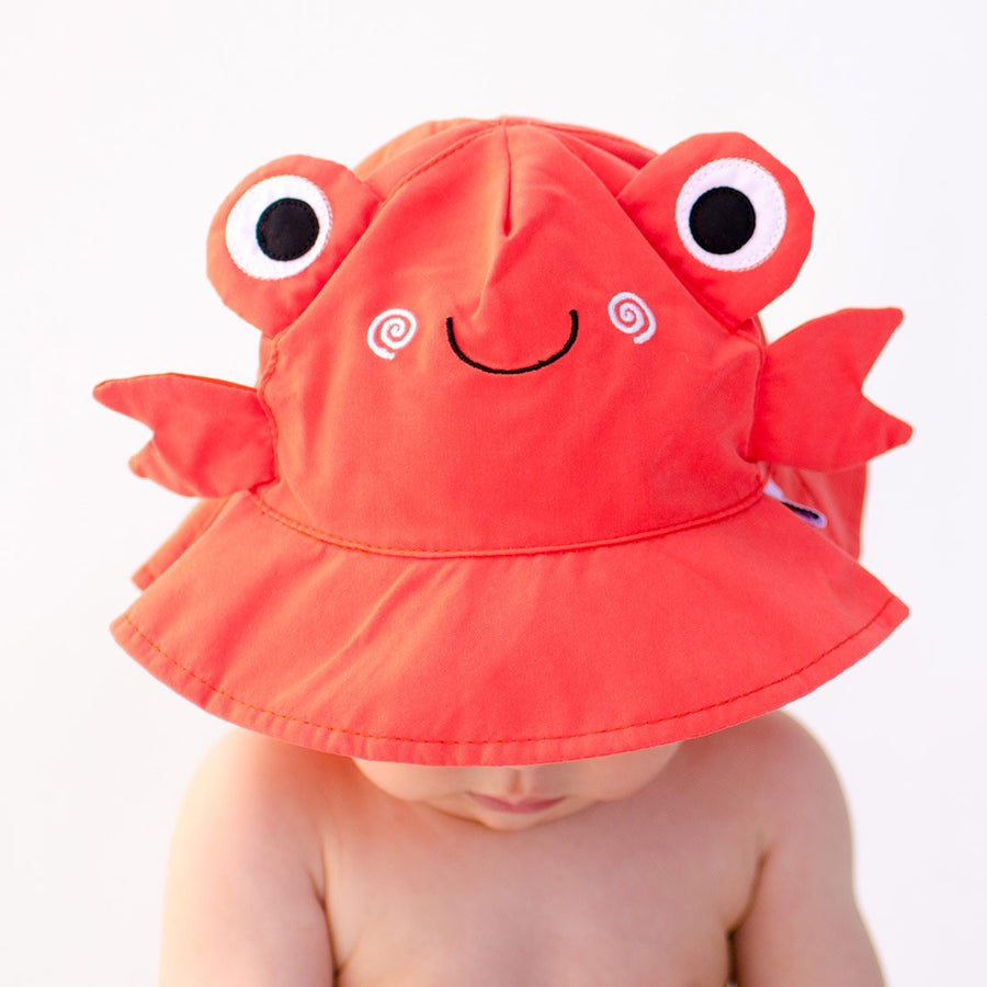ZOOCCHINI UPF50+ Baby Swim Diaper & Sun Hat Set - Charlie the Crab