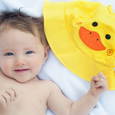 ZOOCCHINI UPF50+ Baby Swim Diaper & Sun Hat Set - Puddles the Duck-2