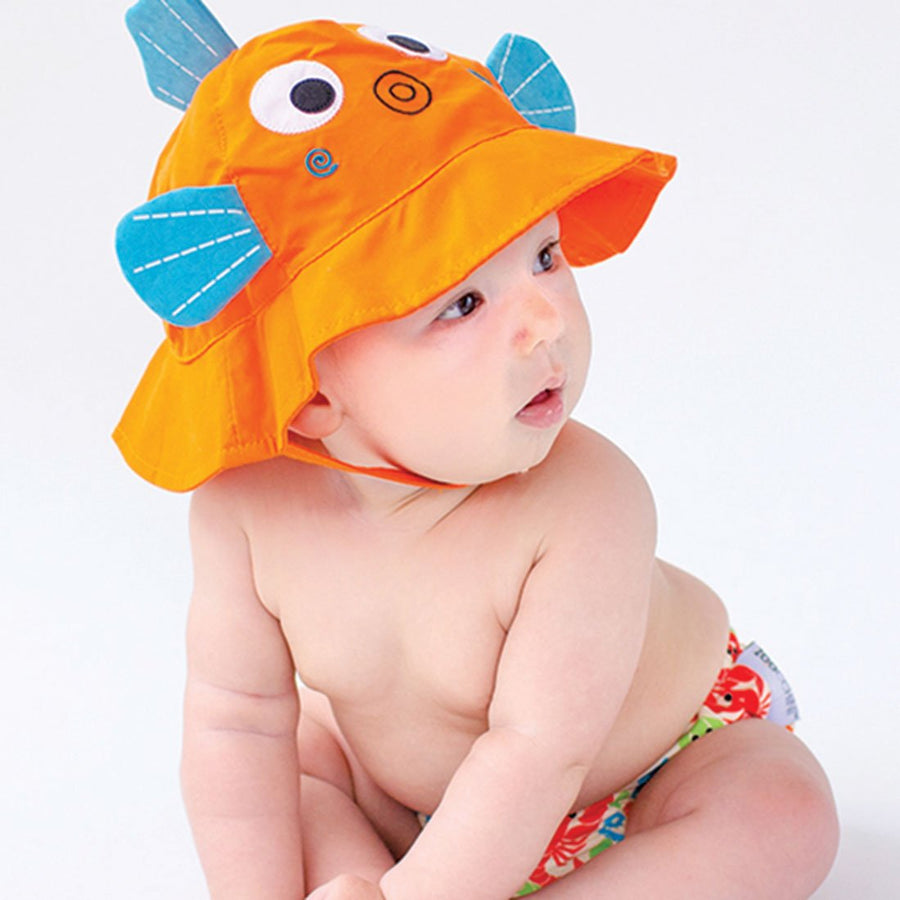 ZOOCCHINI UPF50+ Baby Swim Diaper & Sun Hat Set - Sushi the Fish