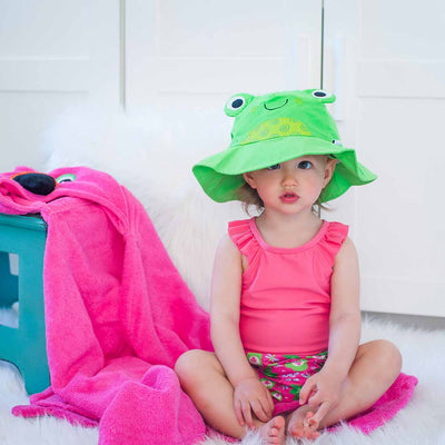 ZOOCCHINI UPF50+ Baby Swim Diaper & Sun Hat Set - Flippy the Frog