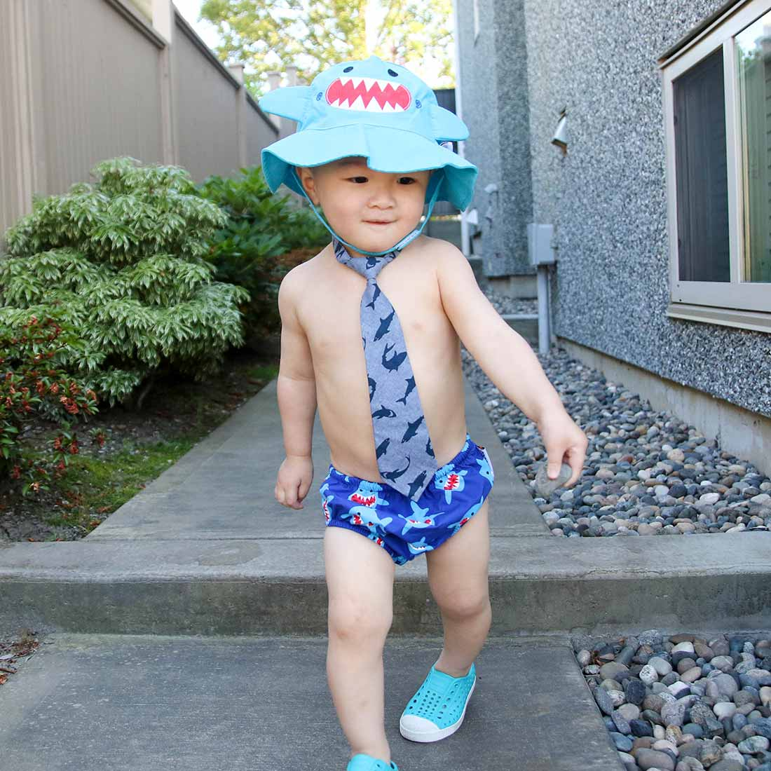 b3fcc1d6c7a Newborn Baby Toddler UPF50+ Swim Diaper   Sunhat Set for Pool   Beach