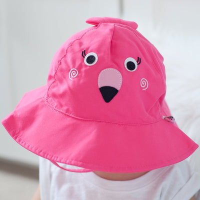 ZOOCCHINI UPF50+ Baby Swim Diaper & Sun Hat Set - Franny the Flamingo-3