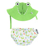 ZOOCCHINI UPF50+ Baby Swim Diaper & Sun Hat Set - Aidan the Alligator2
