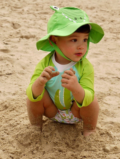 ZOOCCHINI UPF50+ Baby Swim Diaper & Sun Hat Set - Aidan the Alligator