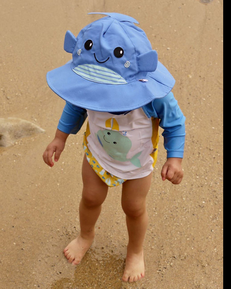 ZOOCCHINI UPF50+ Baby Swim Diaper & Sun Hat Set - Willy the Whale