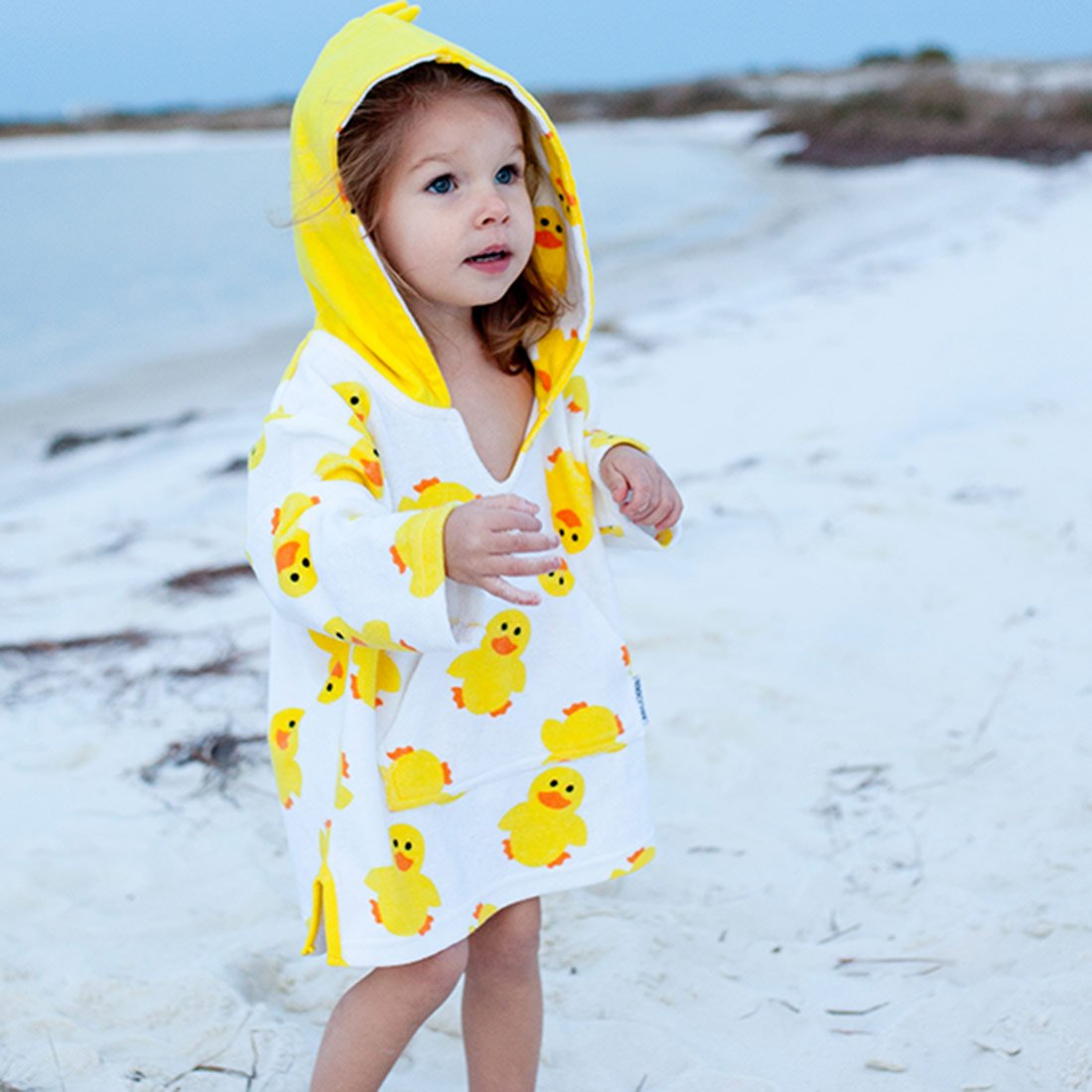 7492eb6994 ZOOCCHINI UPF50+ Swim Coverup - Puddles the Duck