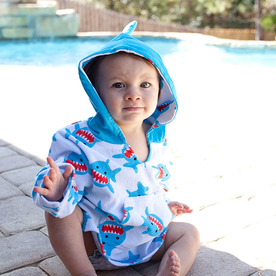 ZOOCCHINI UPF50+ Bath & Swim Coverup - Sherman the Shark