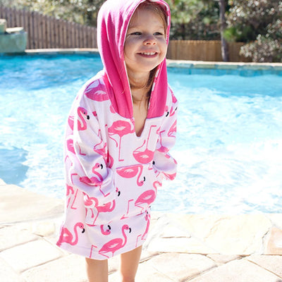 ZOOCCHINI UPF50+ Bath & Swim Coverup - Franny the Flamingo-2