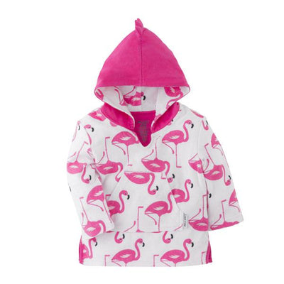 ZOOCCHINI UPF50+ Bath & Swim Coverup - Franny the Flamingo-3