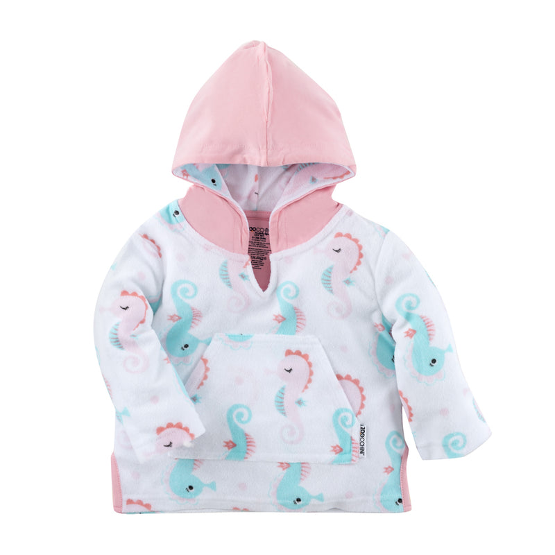 ZOOCCHINI UPF50+ Bath & Swim Coverup - Sally the Seahorse