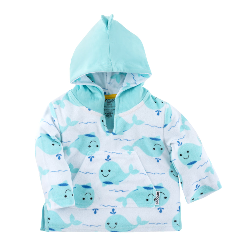 ZOOCCHINI UPF50+ Bath & Swim Coverup - Willy the Whale