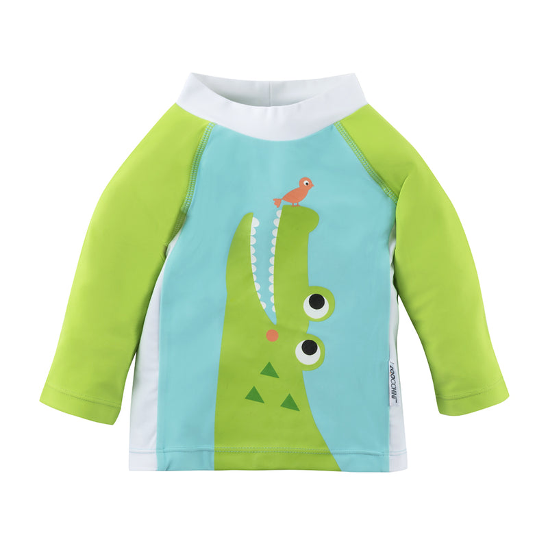 ZOOCCHINI UPF50+ Baby Rashguard - Aidan the Alligator