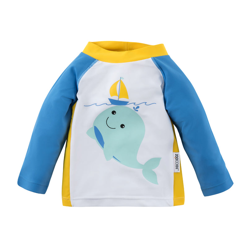 ZOOCCHINI UPF50+ Baby Rashguard - Willy the Whale