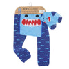 ZOOCCHINI grip+easy™ Comfort Crawler Legging & Socks Set - Sherman the Shark-7