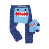 ZOOCCHINI grip+easy™ Comfort Crawler Legging & Socks Set - Sherman the Shark-4