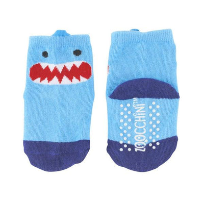 ZOOCCHINI grip+easy™ Comfort Crawler Legging & Socks Set - Sherman the Shark-6