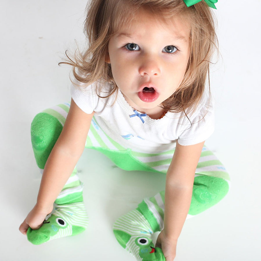 ZOOCCHINI grip+easy™ Comfort Crawler Legging & Socks Set - Flippy the Frog-1