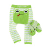 ZOOCCHINI grip+easy™ Comfort Crawler Legging & Socks Set - Flippy the Frog-4