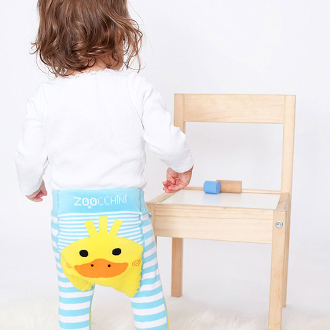 ZOOCCHINI grip+easy'Ñ¢ Comfort Crawler Legging & Socks Set - Puddles the Duck-1