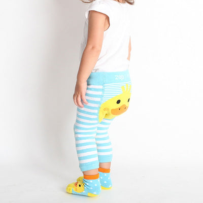 ZOOCCHINI grip+easy'Ñ¢ Comfort Crawler Legging & Socks Set - Puddles the Duck-3