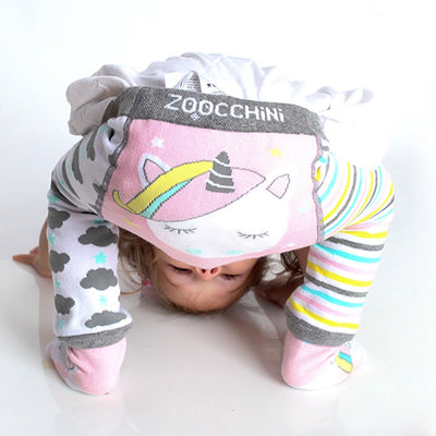 ZOOCCHINI grip+easy™ Comfort Crawler Legging & Socks Set - Allie the Alicorn-2