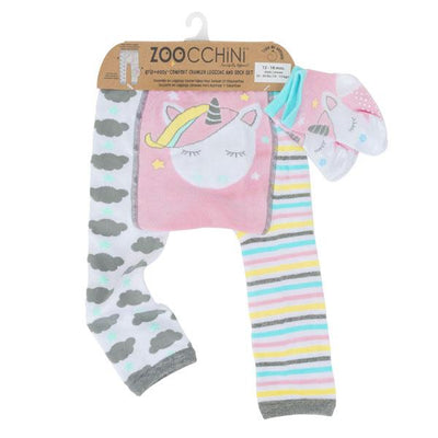 ZOOCCHINI grip+easy™ Comfort Crawler Legging & Socks Set - Allie the Alicorn-3