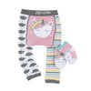 ZOOCCHINI grip+easy™ Comfort Crawler Legging & Socks Set - Allie the Alicorn-4