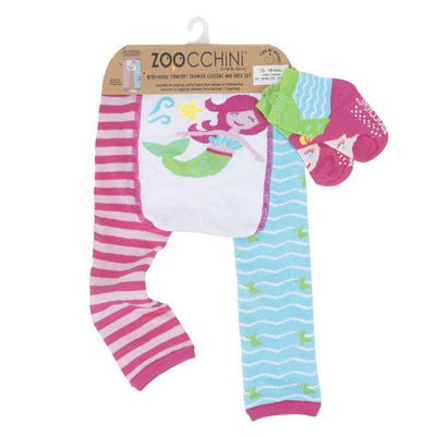 ZOOCCHINI grip+easy™ Comfort Crawler Legging & Socks Set - Marietta the Mermaid-7