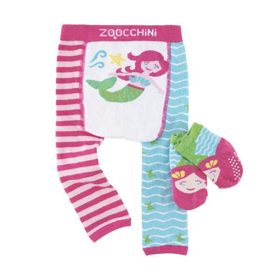 ZOOCCHINI grip+easy™ Comfort Crawler Legging & Socks Set - Marietta the Mermaid-4